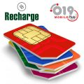 Recharge 019 Mobile Israeli SIM Card Prepaid Plan