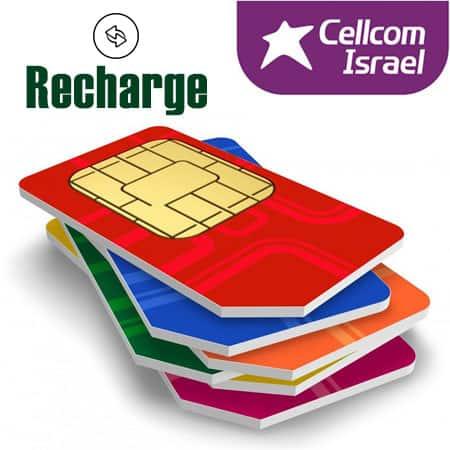 recharge cellcom israeli sim card