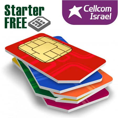 israeli prepaid sim card by Cellcom