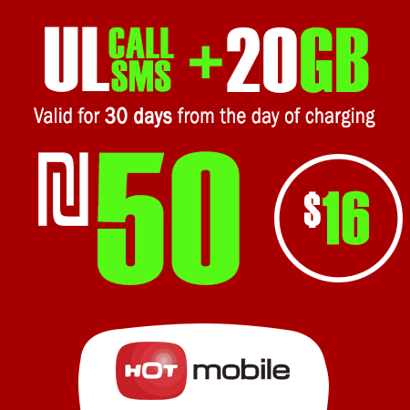 Hot Mobile Unlimited Calls and SMS + 20GB Data for 30 Days